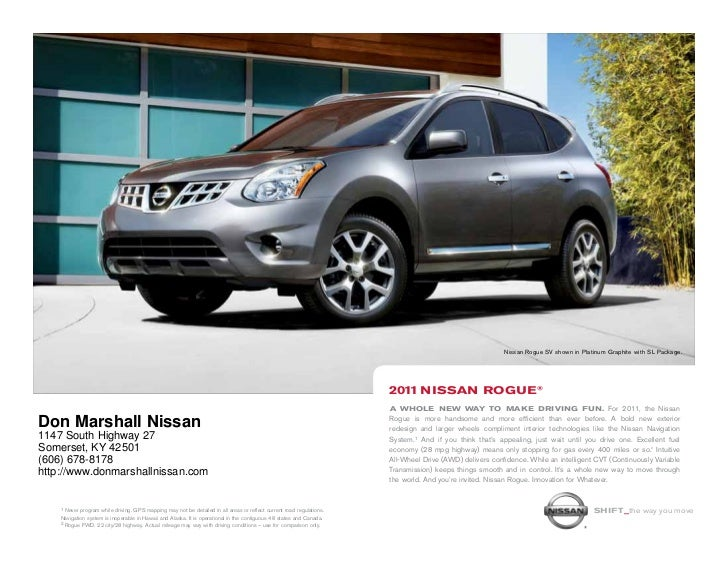 Don Marshall Somerset Ky >> 2011 Nissan Rogue For Sale Near Lexington Ky Don Marshall