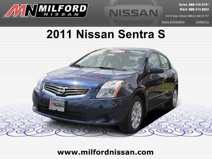 2011 Nissan Sentra S www.milfordnissan.com