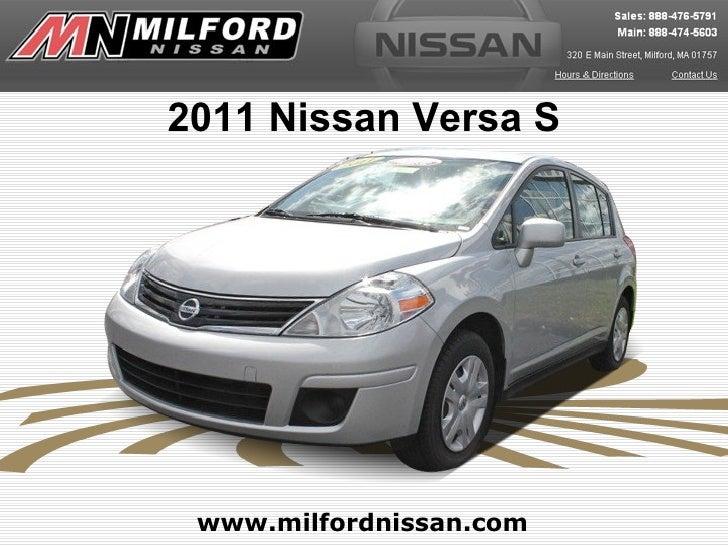 2011 Nissan Versa S www.milfordnissan.com