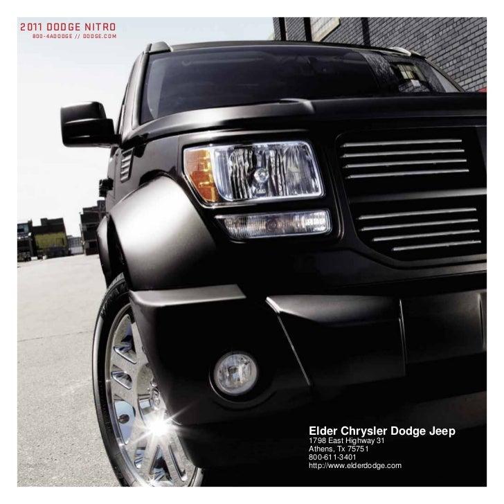 2011 DODGE NITRO 800 - 4 A D O D G E / / D O D G E . C O M                                             Elder Chrysler Dodg...