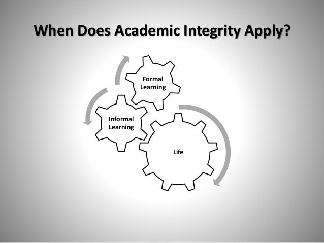 what does academic integrity mean to you Include an academic integrity warning in your syllabus an effective warning will  warn the  of plagiarism, and provide links to an expanded definition with  examples  you may want students to read these and report back to you, or you  may  to quote prose sources, but does not address problems with quantitative  data.
