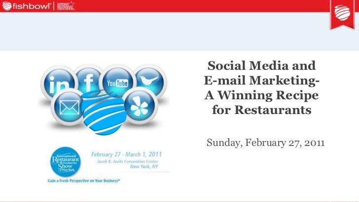 2011 NYSRA Show Seminar on Social Media & Email Marketing