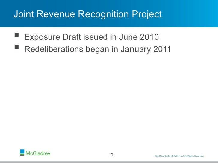 Revenue recognition for mcdonalds corporation