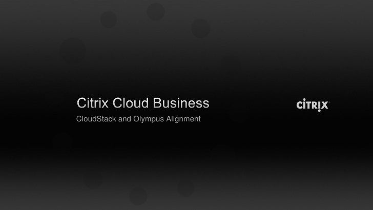 CloudStack and Olympus Alignment