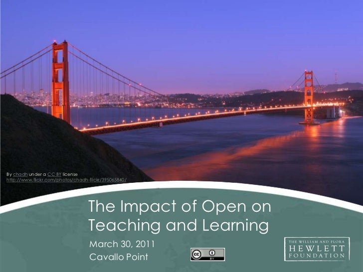 By chadh under a CC BY license<br />http://www.flickr.com/photos/chadh-flickr/395065840/<br />The Impact of Open on Teachi...