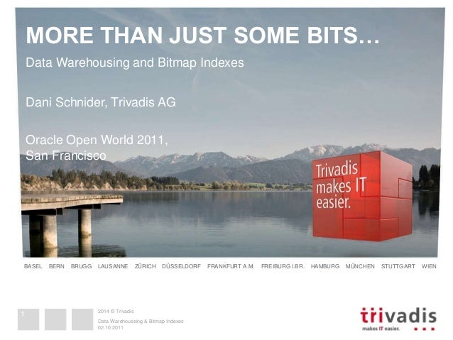 MORE THAN JUST SOME BITS…  Data Warehousing and Bitmap Indexes  Dani Schnider, Trivadis AG  Oracle Open World 2011,  San F...