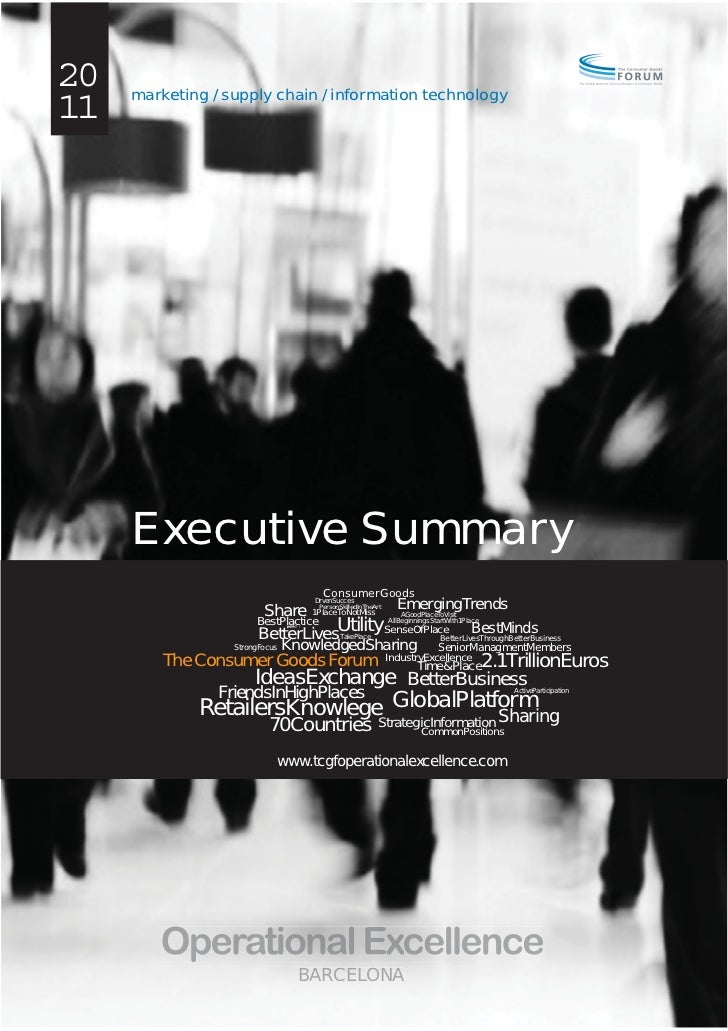 20   marketing / supply chain / information technology11     Executive Summary                                      Consum...
