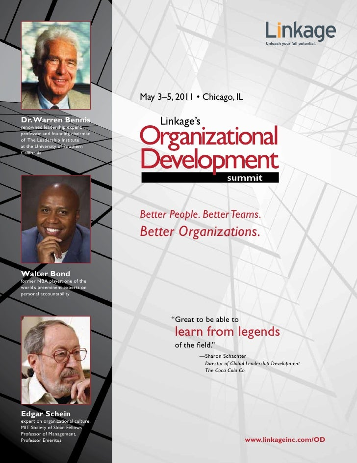 May 3–5, 2011 • Chicago, ILDr. Warren Bennisrenowned leadership expert;professor and founding chairmanof The Leadership In...