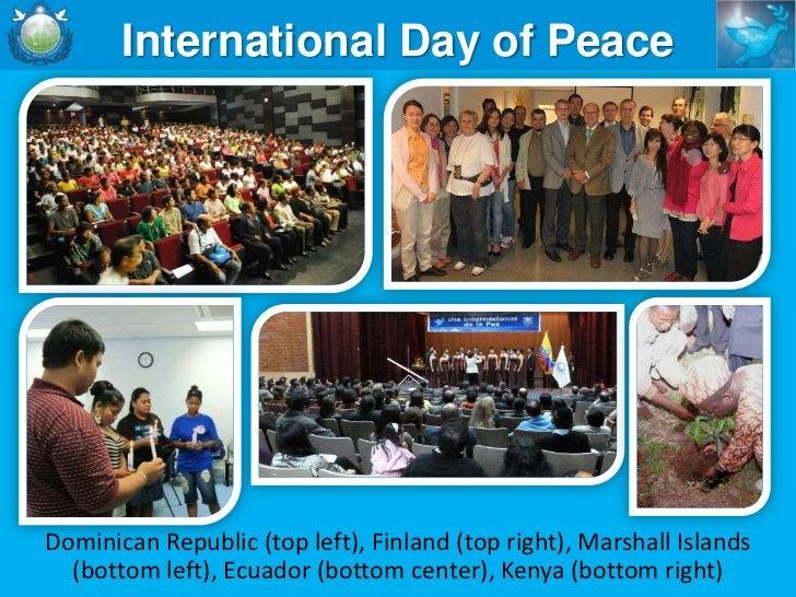 Interfaith Peace CouncilsInauguration of the ThailandInterreligious Peace Council (below),consultation with the EthiopiaIn...