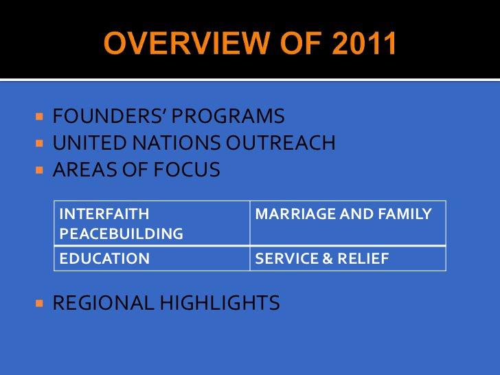 BIRTHDAY OF REV. & MRS. SUN MYUNG MOON INTERNATIONAL LEADERSHIP CONFERENCE            PEACE TOUR 2011