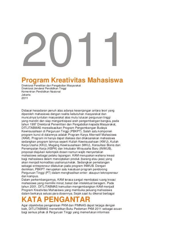 2011Program Kreativitas MahasiswaDirektorat Penelitian dan Pengabdian MasyarakatDirektorat Jenderal Pendidikan Tinggi     ...