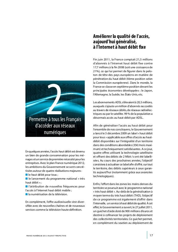 réseaux d'initiative publique à très haut débit, desubventionner la montée en débit sur les réseaux                       ...