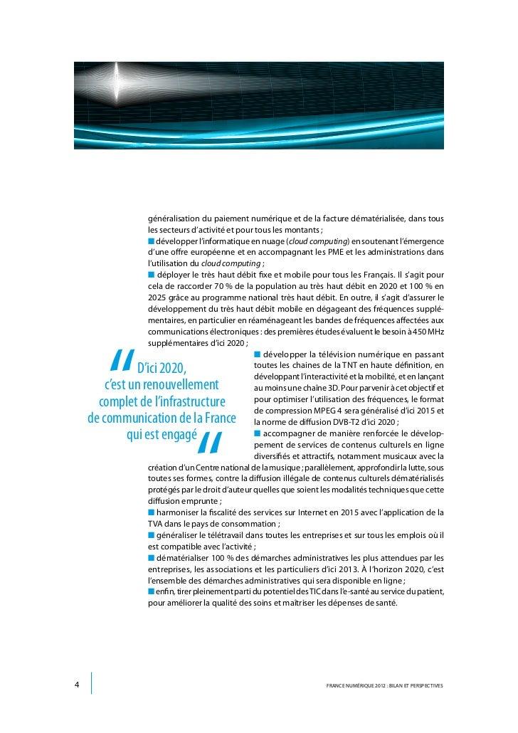 généralisation du paiement numérique et de la facture dématérialisée, dans tous                les secteurs d'activité et ...