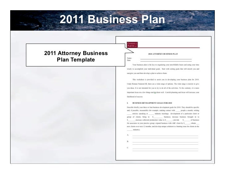 Lawyer Planning Presentation - Business plan for lawyers template
