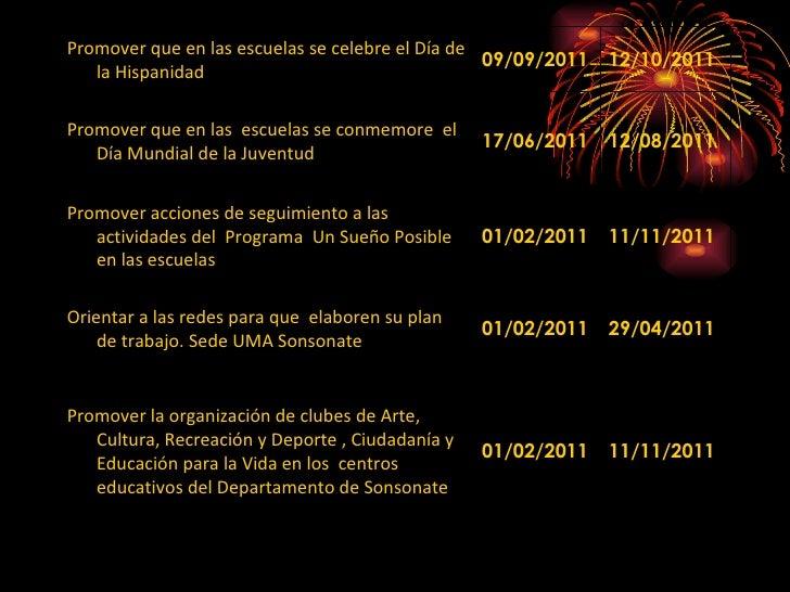Promover que en las escuelas se celebre el Día de la Hispanidad 09/09/2011 12/10/2011 Promover que en las  escuelas se con...