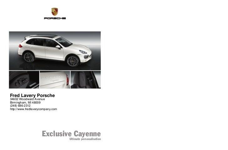 WSLE1101000420 GB/WW                                               Fred Lavery Porsche                                    ...