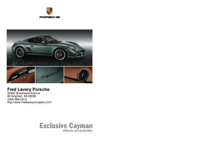 WSLI1001000410 DE/WW                                            Fred Lavery Porsche                                       ...