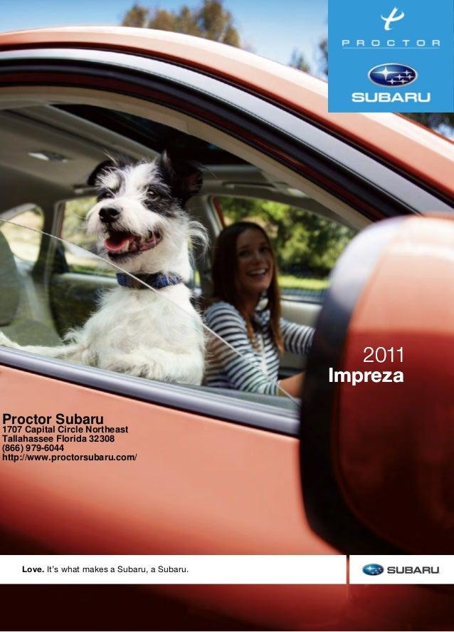 Impreza 2011 Impreza 2011 Love. It's what makes a Subaru, a Subaru. 2011SubaruImpreza These brochures were printed with ve...