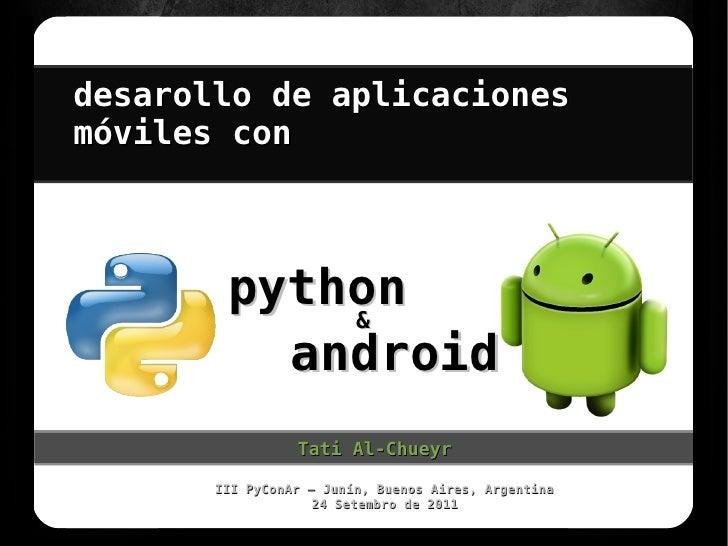 desarollo de aplicacionesmóviles con        python                          .            &          android               ...