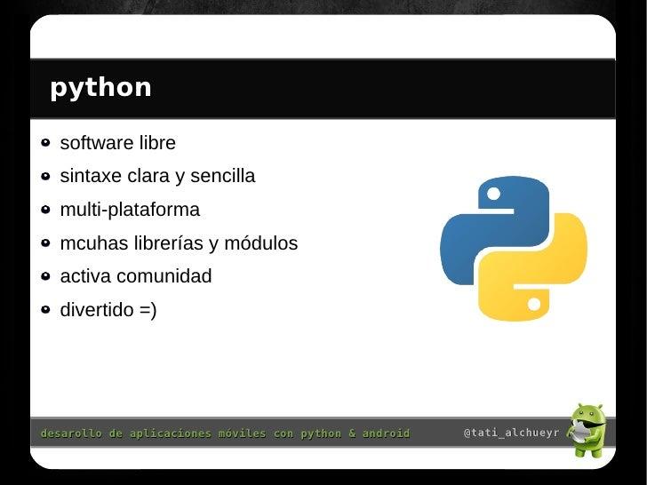 Desarollando aplicaciones m viles con python y android - Librerias python ...