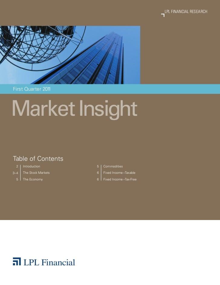 LPL FINANCIAL RESEARCH                                                               MARKET INSIGHTFirst Quarter 201      ...