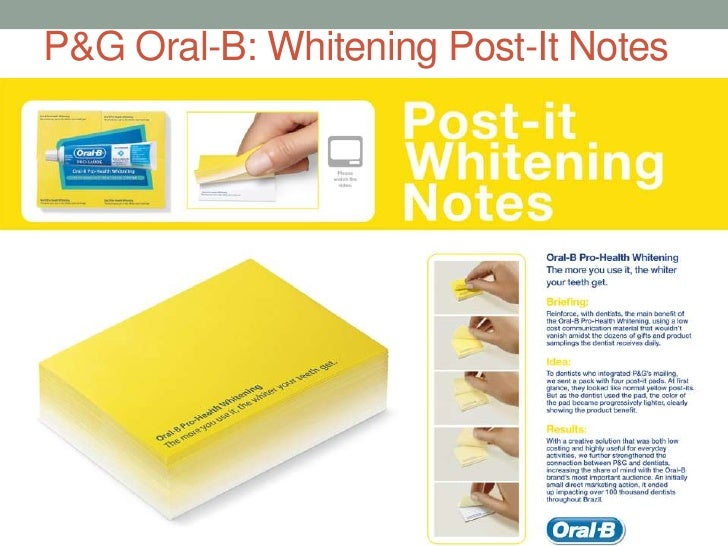 P&G Oral-B: Whitening Post-It Notes<br />