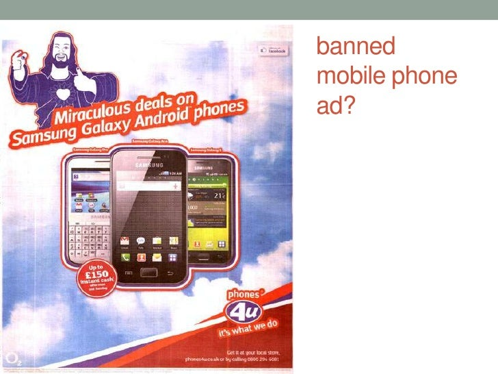banned mobile phone ad?<br />