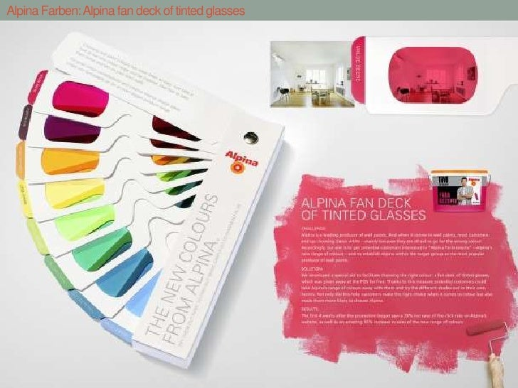 Alpina Farben: Alpina fan deck of tinted glasses<br />