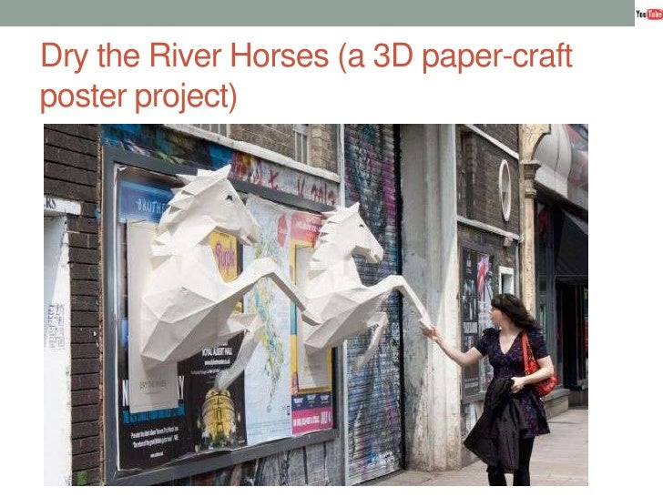 Dry the River Horses (a 3D paper-craft poster project)<br />