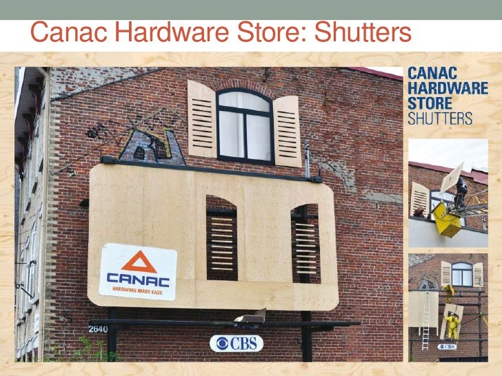 Canac Hardware Store: Shutters<br />