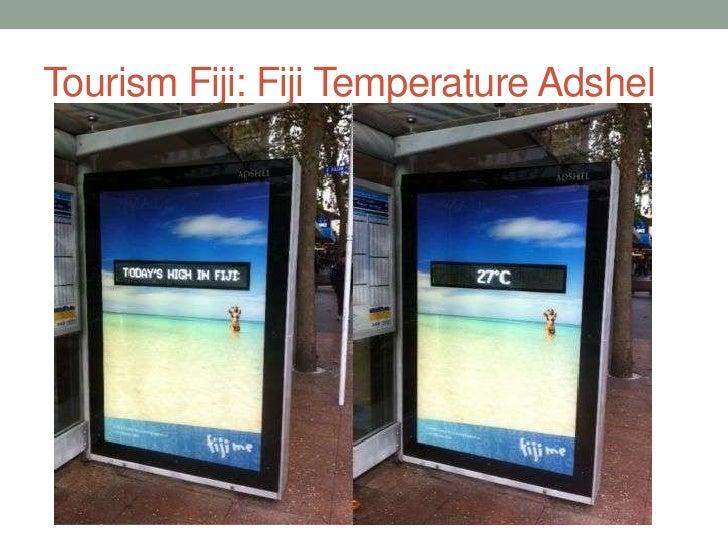 Tourism Fiji: Fiji Temperature Adshel<br />