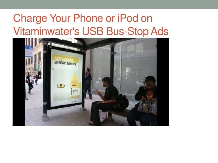 Charge Your Phone or iPod on Vitaminwater's USB Bus-Stop Ads<br />