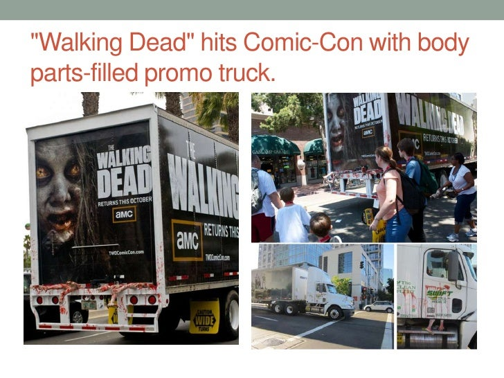 """""""Walking Dead"""" hits Comic-Con with body parts-filled promo truck.<br />"""