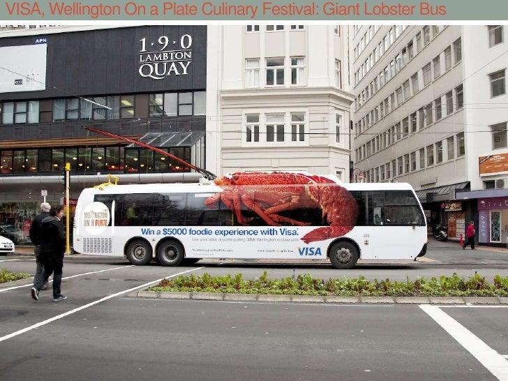 VISA, Wellington On a Plate Culinary Festival: Giant Lobster Bus<br />