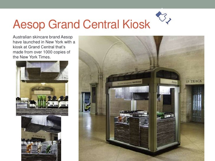 Aesop Grand Central Kiosk<br />Australian skincare brand Aesop have launched in New York with a kiosk at Grand Central tha...