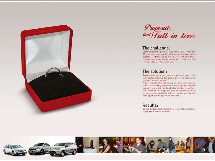 Honda: Proposals That Fall In Love<br />