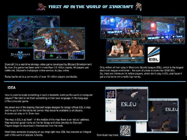 First ad in the world of Starcraft<br />
