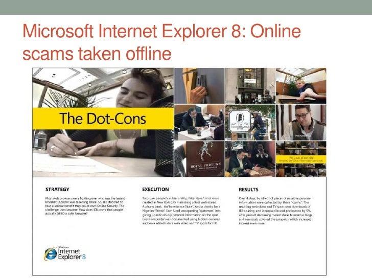Microsoft Internet Explorer 8: Online scams taken offline<br />