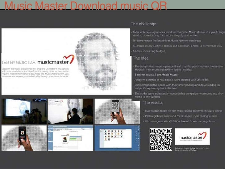 Music Master Download music QR<br />