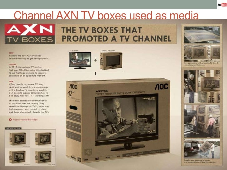 Channel AXN TV boxes used as media<br />