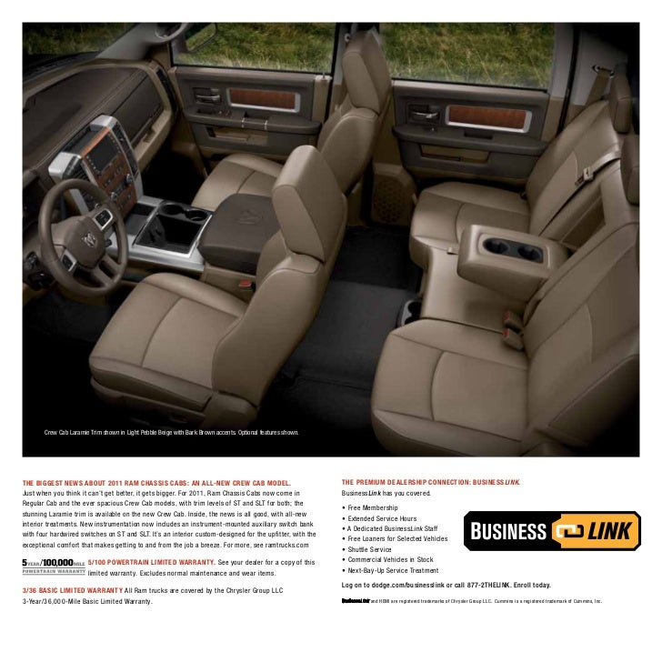 2011 Ram Chassis Cab Specifications E Brochure