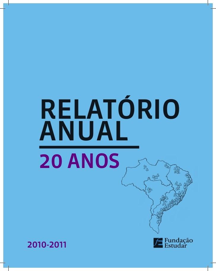 RELATÓRIO  AnuAL  20 ANOS2010-2011