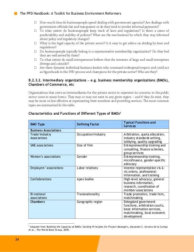 2011, REPORT, Public-Private Dialogue Handbook, A toolkit