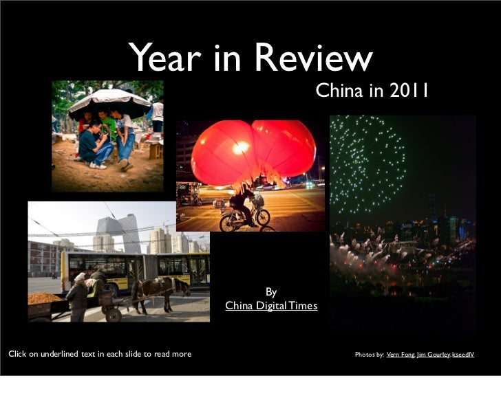 Year in Review                                                                        China in 2011                       ...