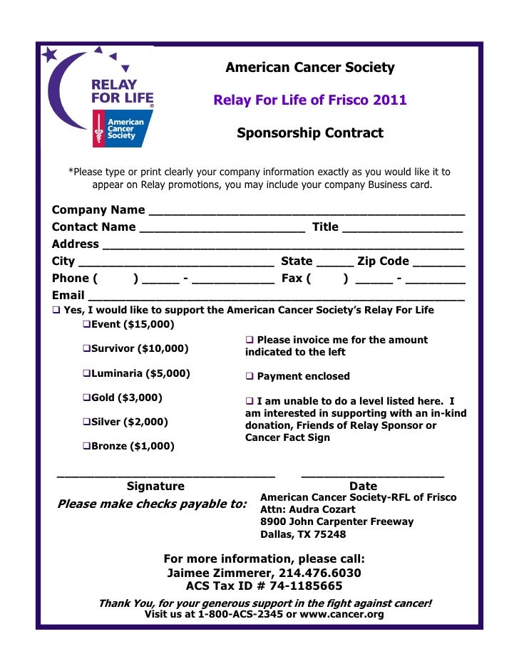 FriscoRFL 2011 Sponsorship Packet
