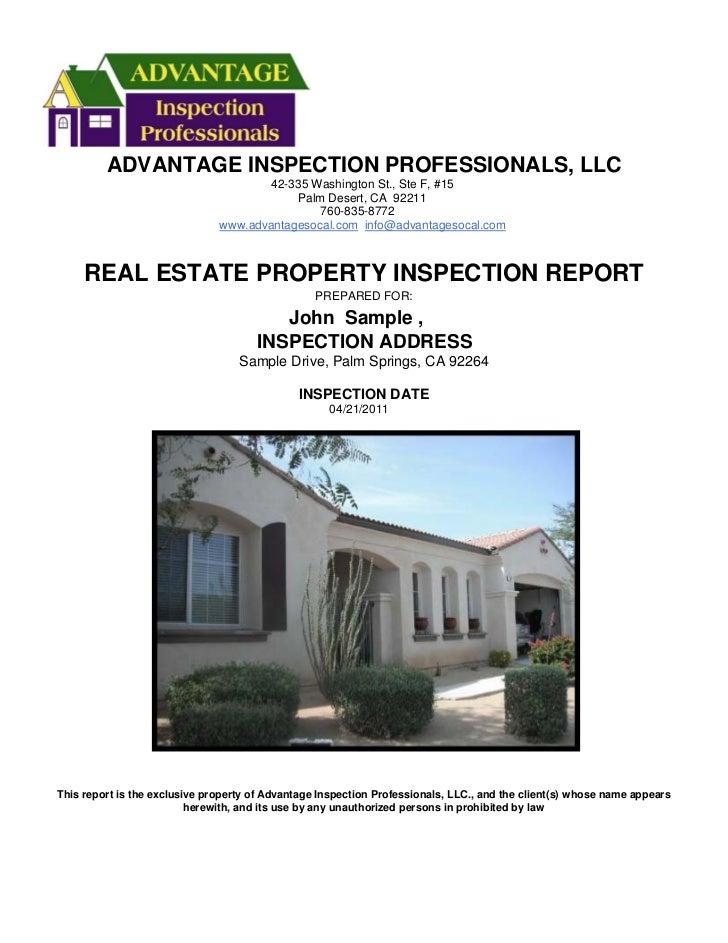ADVANTAGE INSPECTION PROFESSIONALS, LLC                                      42-335 Washington St., Ste F, #15            ...