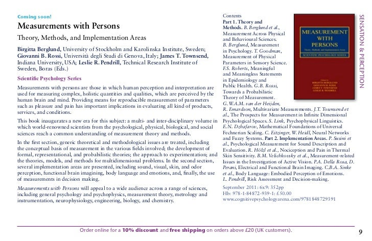 Foundations of Sensation and Perception (3rd ed.)