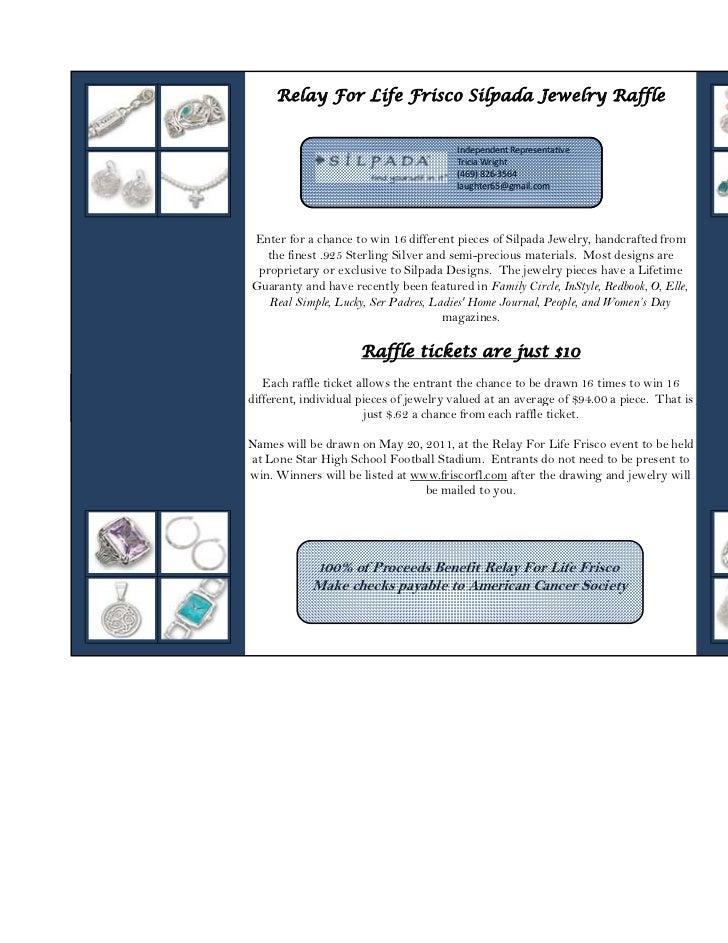 Relay For Life Frisco Silpada Jewelry Raffle                                        IndependentRepresentative            ...