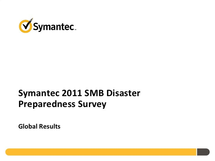 2011 SMB Disaster Preparedness Global Survey