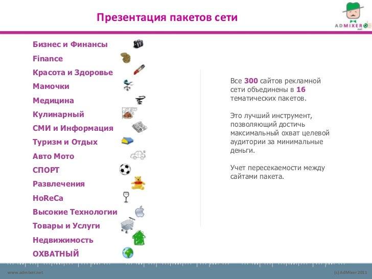 Презентация пакетов сети          Бизнес и Финансы          Finance          Красота и Здоровье                           ...